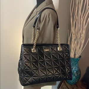Kate Spade Black Quilted Tote - large